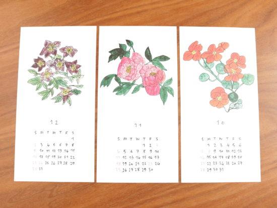 イザベル・ボワノ×手紙社/カレンダー2018