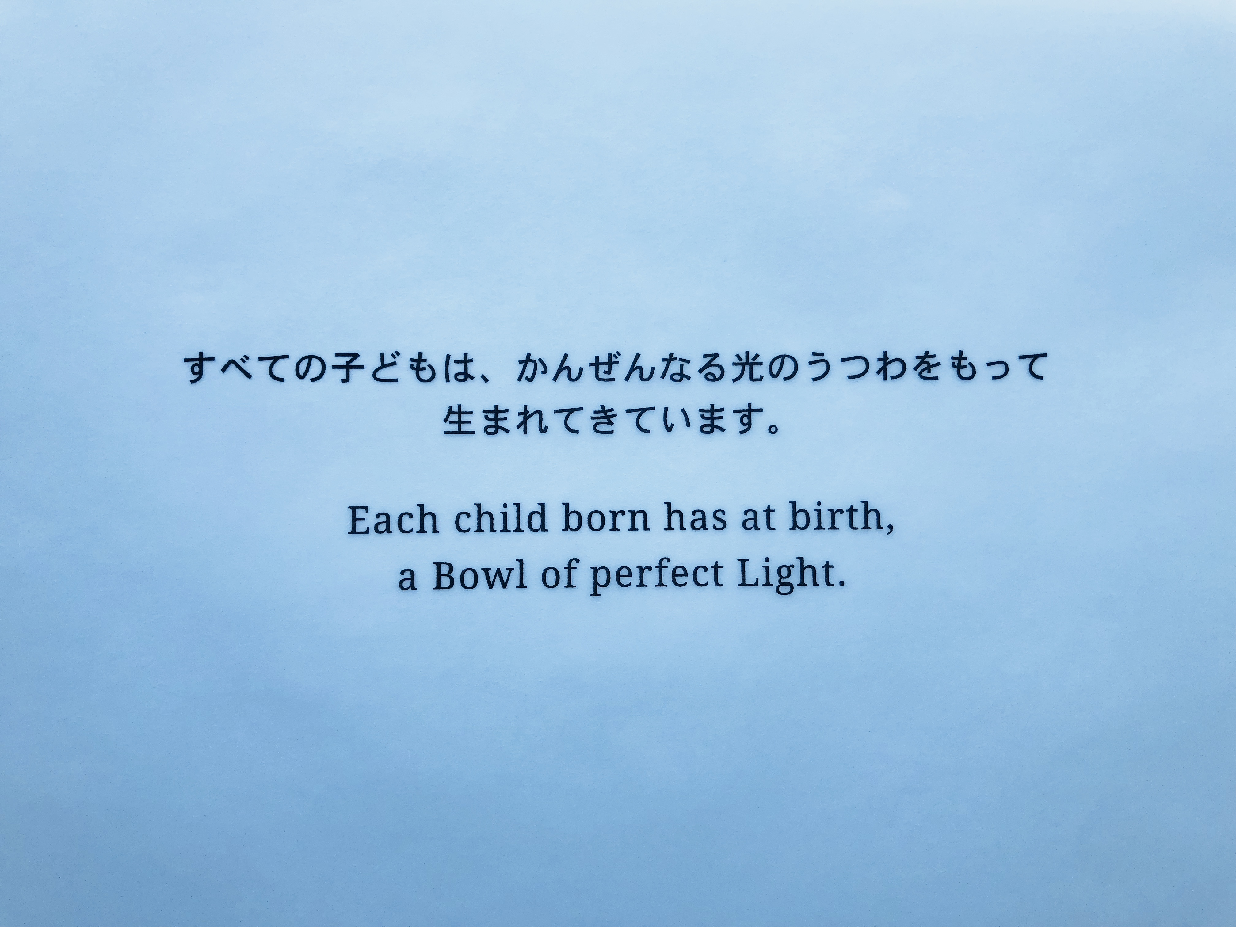 The Bowl of Light  光のうつわ